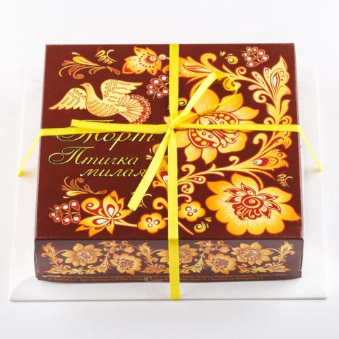 Торт «Птичка милая» сливочно-шоколадный